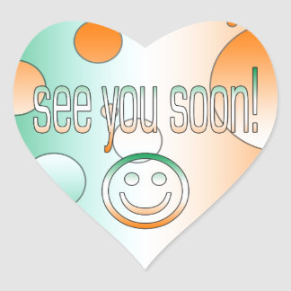 See you Soon! Ireland Flag Colors Pop Art Heart Sticker