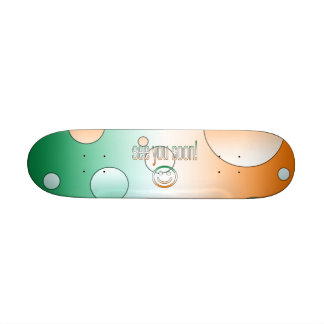 See you Soon! Ireland Flag Colors Pop Art Skateboard Deck