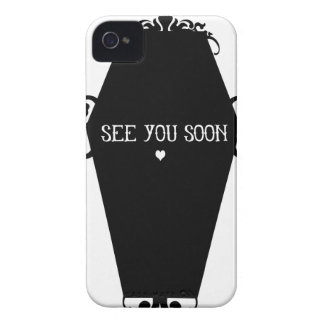 See You Soon Memento Mori Coffin Design iPhone 4 Cases