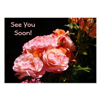 See You Soon Rose Appointment Cards Roses Business Card Template