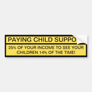 See Your Children 14% Of The Time! Bumper Sticker