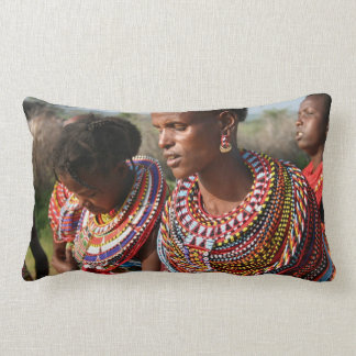 Seed Beads Jewellery from the Massai in Kenya Lumbar Pillow