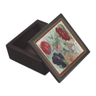 seed catalog gift box premium trinket boxes