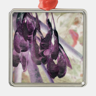 Seed Clusters Square Metal Christmas Ornament