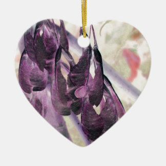 Seed Clusters Double-Sided Heart Ceramic Christmas Ornament