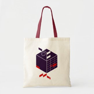 Seed-Cubic graphic tote bag