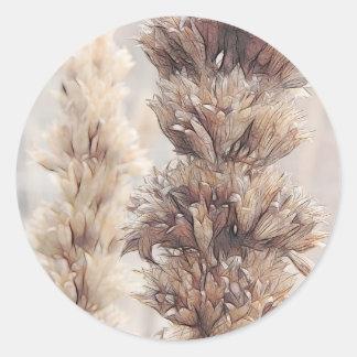 Seed Head - Agastache Classic Round Sticker