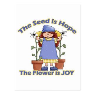 Seed is Hope Flower is Joy Postcard