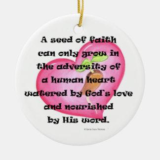 seed of faith ceramic ornament