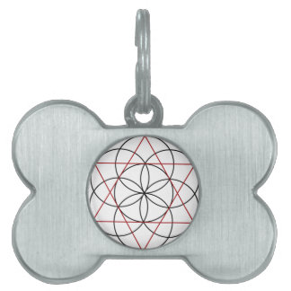 Seed of Life 2 Triangles Pet Name Tag