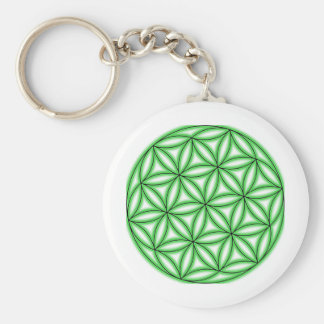 Seed of Life Basic Round Button Keychain