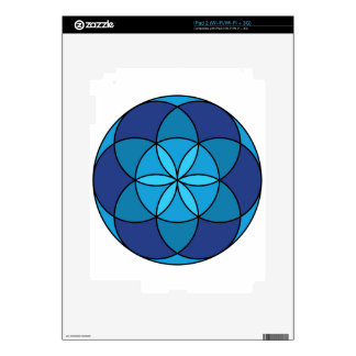 seed of life blue on blue iPad 2 decals