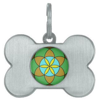 Seed of Life Earth2 Pet ID Tag