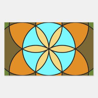 Seed of Life Earth Rectangular Sticker