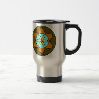 Seed of Life Earth Travel Mug