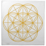 Seed of Life Gold Napkins