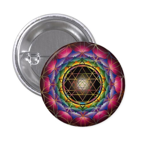 Seed of Life Mandala Button by Rachel C. Bemis