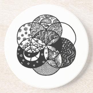 Seed of Life Mandala Coaster