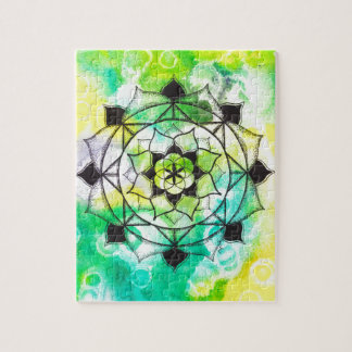 Seed of Life Mandala Jigsaw Puzzle