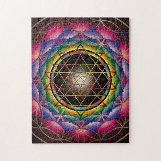 Seed of Life Mandala Puzzle by Rachel C. Bemis