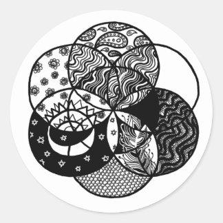 Seed of Life Mandala Round Sticker