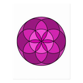 Seed of Life Multi Violet Postcard