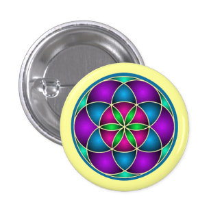 Seed of Life Pin-back Button Badges