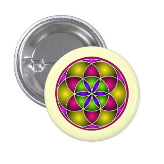 Seed of Life Pin-back Buttons Badges