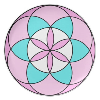 Seed of Life Pink Plate