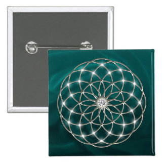 Seed OF life - tube torus - Flower OF life Pinback Button