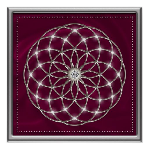 Seed OF life - tube torus - Flower OF life - talk Poster
