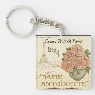 Seed Packet Double-Sided Square Acrylic Keychain