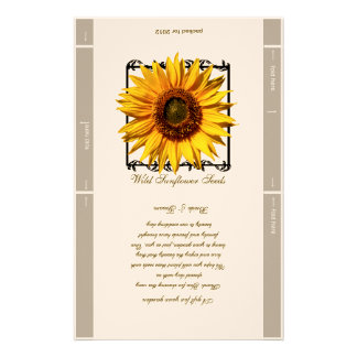 Seed Packet Template Wedding Favor Custom Stationery
