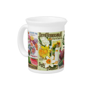 Seed Packets Drink Pitcher at Zazzle