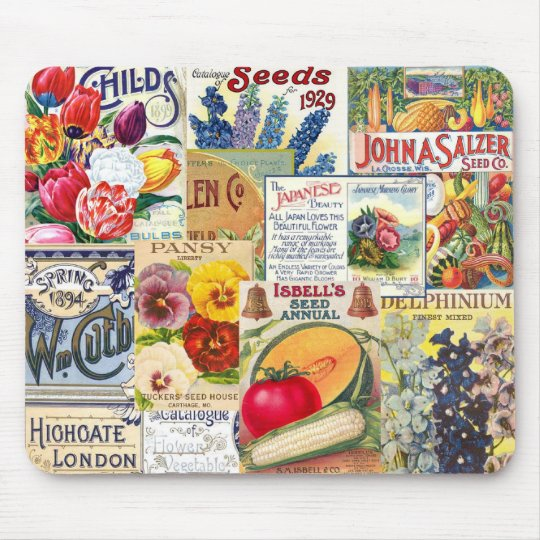 Seed Packets Mouse Pad
