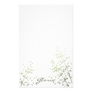 Seed Pods Silhouette Stationery