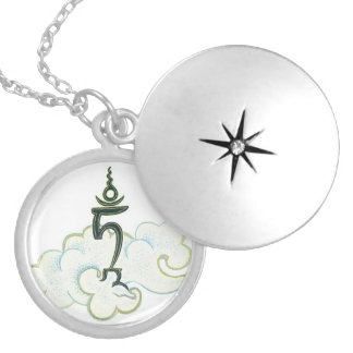 Seed Syllable TAM - Round Locket - Silver Plated