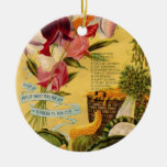Seed Variety Double-Sided Ceramic Round Christmas Ornament