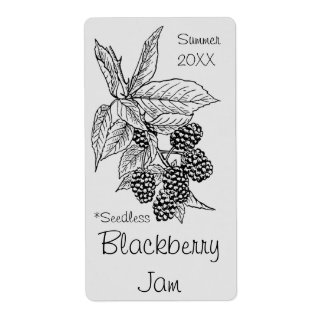 Seedless Blackberry Jam Jar Label (Customize)