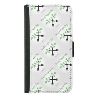 Seedling from a fork- World vegan day November 1 Samsung Galaxy S5 Wallet Case