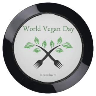 Seedling from a fork- World vegan day November 1 USB Charging Station