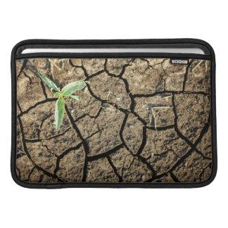 Seedling In Cracked Earth Sleeve For MacBook Air