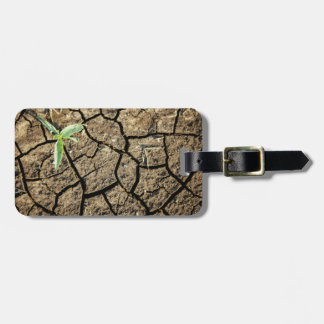 Seedling In Cracked Earth Luggage Tag
