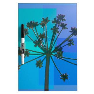 SeedPod azul abstracto Pizarras Blancas