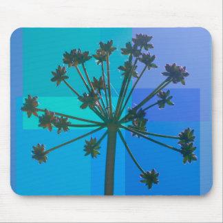 SeedPod azul abstracto Tapete De Ratón