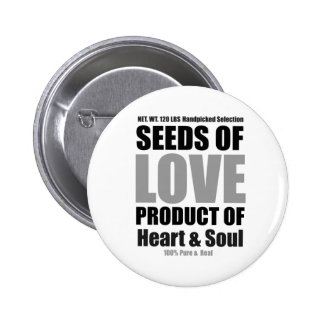 Seeds of Love white Button