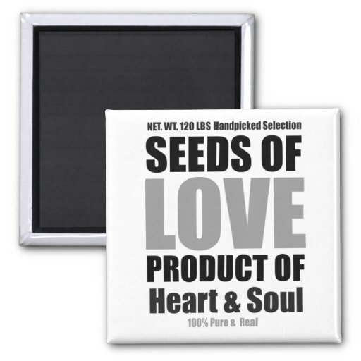 Seeds Of Love White Magnet