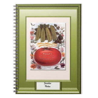 Seeds of time, Garden notes, Pumpkins and peas Notebook