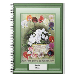 Seeds of time, Garden notes, Sweet pea Spiral Notebook