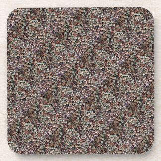 Seeds photo, Colorful Mixed Beans pattern diagonal Drink Coaster